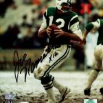 Joe Namath Autographed New York Jets 8×10 Photo – JSA