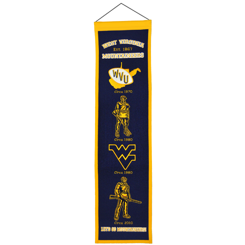 West Virginia Mountaineers Logo Evolution Heritage Banner