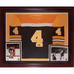 Bobby Orr Autographed Boston Bruins (Black #4) Deluxe Framed Jersey – Orr Holo
