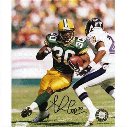 Ahman Green Autographed Green Bay Packers (vs Ravens) 8x10 Photo