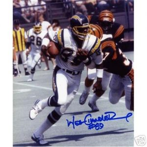 Wes Chandler Autographed San Diego Chargers 8x10 Photo