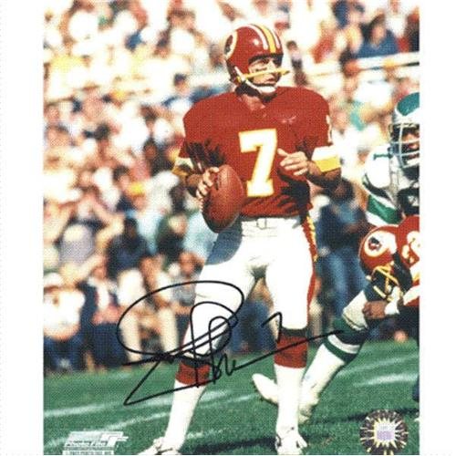 Joe Theismann Autographed Washington Redskins (Red Jersey) 8x10 Photo