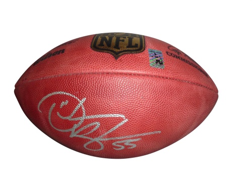 Derrick Brooks Autographed Official NFL Game Football  - Brooks Holo