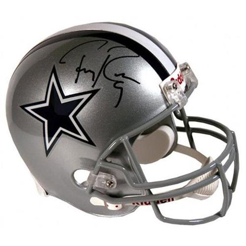 premium selection ab3bc 6b65b Tony Romo Autographed Dallas Cowboys Mini Helmet - JSA