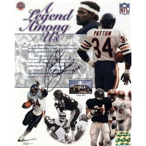 "Walter Payton Autographed Chicago Bears ""A Legend Among Us"" 8x10 Photo w/ ""Sweetness"" , ""16,726"""