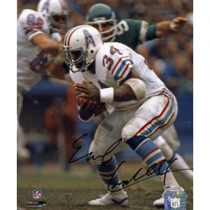 Earl Campbell Autographed Houston Oilers (White Jersey) 8x10 Photo