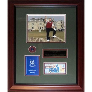 Jack Nicklaus Autographed RBS 5 Pound Note (2005 British Open) Deluxe Framed Currency Piece
