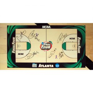 "Florida Gators ""Starting 5"" (Brewer , Green , Horford , Humphrey , Noah) and Chris Richard Autographed Original Game-Used 2007 Final Four Court - 1'x2' segment"