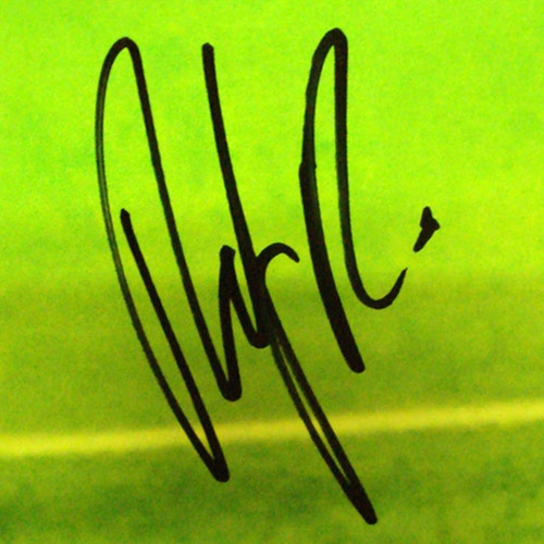 Andy Roddick Autographed (Dive) Poster