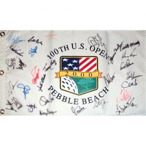 2000 US Open (Pebble Beach) Golf Pin Flag Autographed by 30 Former Champions #1