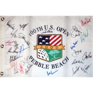 2000 US Open (Pebble Beach) Golf Pin Flag Autographed by 27 Former Champions #3