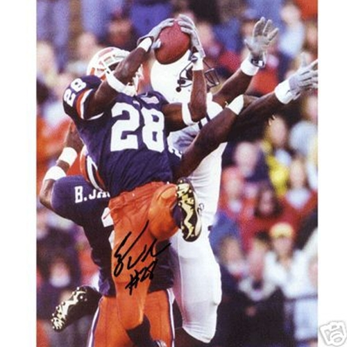 Eugene Wilson Autographed Illinois Fighting Illini (INT vs Penn St) 8x10 Photo