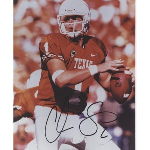 Chris Simms Autographed Texas Longhorns (Orange Jersey) 8x10 Photo