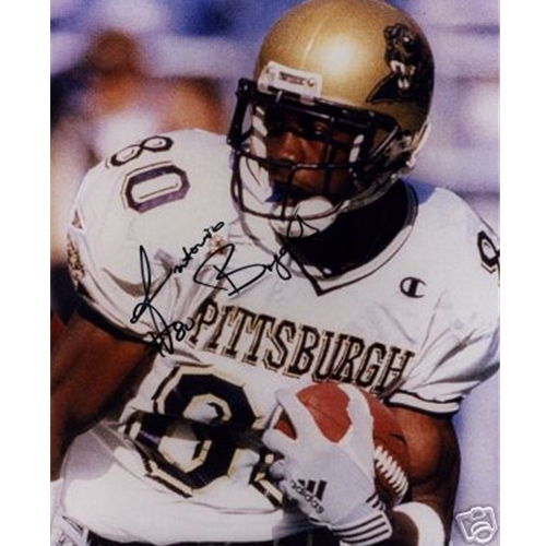 Antonio Bryant Autographed Pittsburgh Panthers (White Jersey) 8x10 Photo