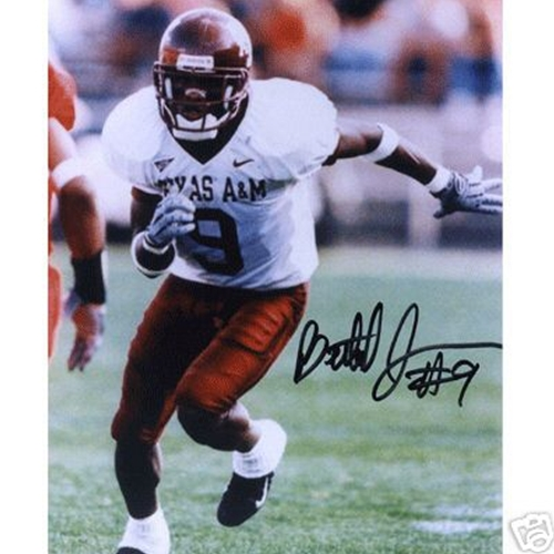 Bethel Johnson Autographed Texas A&M Aggies (White Jersey) 8x10 Photo