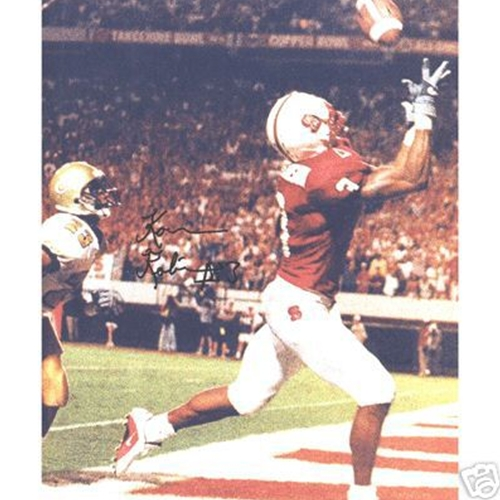 Koren Robinson Autographed North Carolina NC State Wolfpack (TD Catch) 8x10 Photo