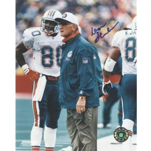 Don Shula Autographed Miami Dolphins (Teal Jacket) 8x10 Photo
