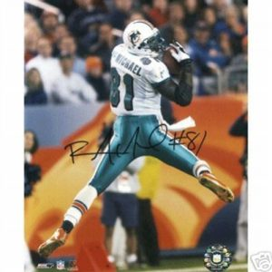 Randy McMichael Autographed Miami Dolphins (Catching) 8x10 Photo