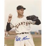 Bobby Thomson Autographed (Throwing) New York Giants 8×10 Photo