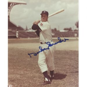 Duke Snider Autographed Brooklyn Dodgers (Swinging) 8x10 Photo