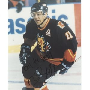 Jarome Iginla Autographed Calgary Flames (Black Jersey) 8x10 Photo