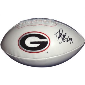 David Greene Autographed Georgia Bulldogs Logo Football