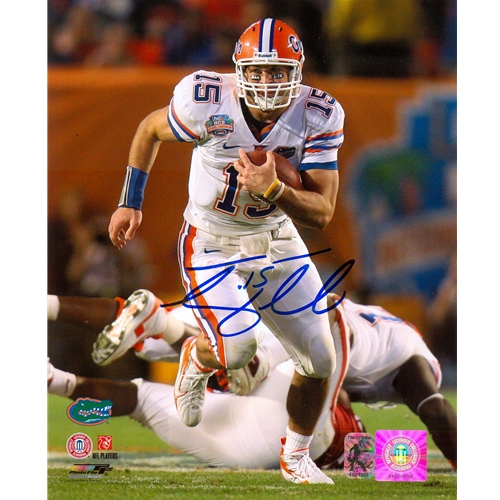 Tim Tebow Autographed Florida Gators (08 BCS Running) 8x10 Photo - Tebow Holo