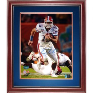 Tim Tebow Autographed Florida Gators (08 BCS Running) Deluxe Framed 16x20 Photo - Tebow Holo