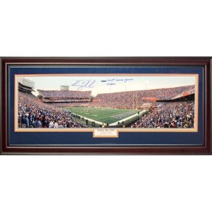 "Tim Tebow Autographed Florida Gators (Final Home Game - Day ""Senior Day 2009"") Deluxe Framed Panoramic Photo - Tebow Holo"