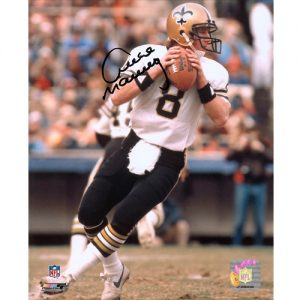 Archie Manning Autographed New Orleans Saints (White Jersey) 8x10 Photo