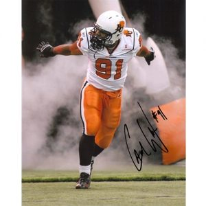 Cameron Cam Wake Autographed BC Lions (CFL White Jersey) 8x10 Photo - Wake Holo