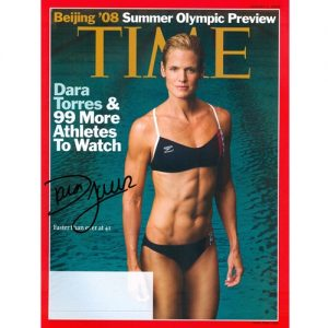Dara Torres Autographed Time (Beijing Olympics Preview 8/4/08) Magazine