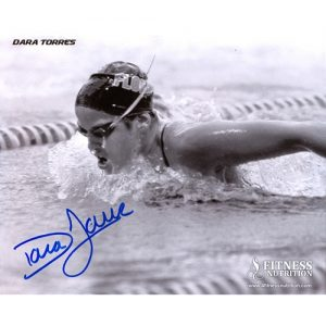 Dara Torres Autographed Florida Gators (BW) 8x10 Photo