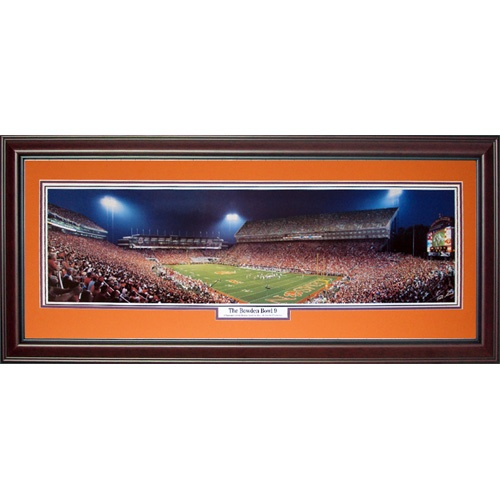 University Of Clemson Tigers The Bowden Bowl 9 Deluxe Framed Panoramic Photo
