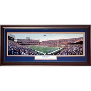 University of Florida Gators (Senior Day 2009 - Tebow's Final Home Game) Deluxe Framed Panoramic Photo