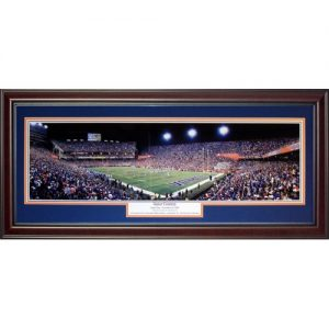 University of Florida Gators (Gator Country - Tebow's Final Home Game) Deluxe Framed Panoramic Photo