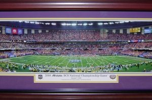 Louisiana State University LSU Tigers (2008 BCS Championship) Deluxe Framed Panoramic Photo