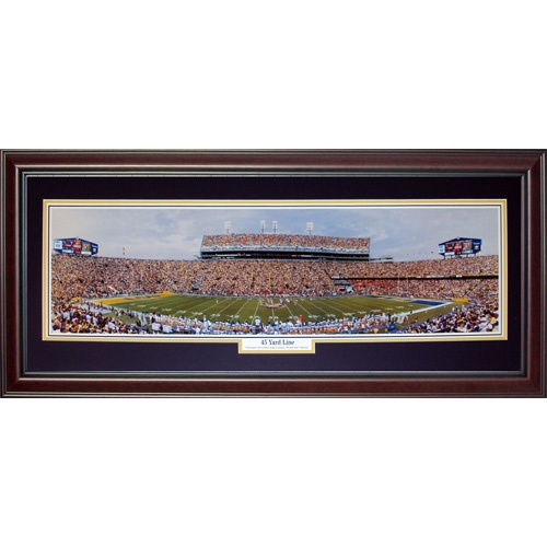 Louisiana State University LSU Tigers (45 Yard Line) Deluxe Framed Panoramic Photo