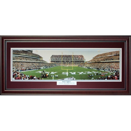 Texas A&M University Aggies (Texas Aggies) Deluxe Framed Panoramic Photo