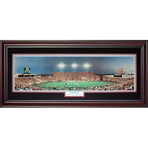 Texas Tech University Red Raiders (34 Yard Line) Deluxe Framed Panoramic Photo
