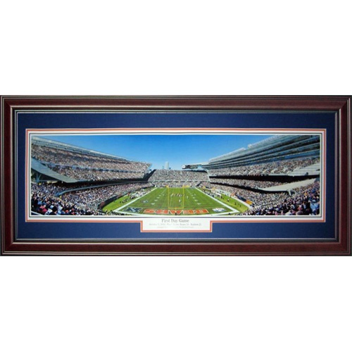 Chicago Bears (First Day Game) Deluxe Framed Panoramic Photo