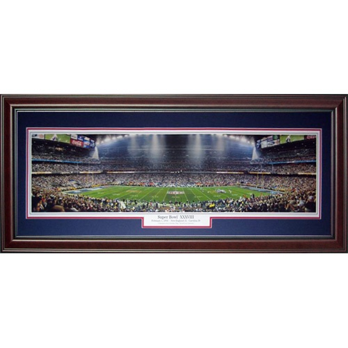 New England Patriots (Super Bowl XXXVIII) Deluxe Framed Panoramic Photo