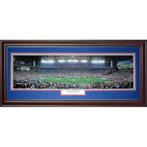 New York Giants (Super Bowl XLII) Deluxe Framed Panoramic Photo