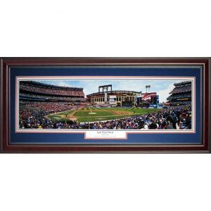 New York Mets (Last First Pitch) Deluxe Framed Panoramic Photo