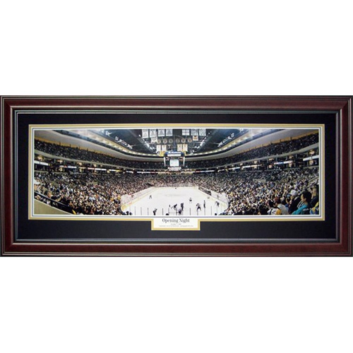 Boston Bruins (Opening Night - Fleet Center) Deluxe Framed Panoramic Photo
