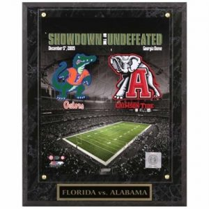 Alabama Crimson Tide vs. Florida Gators (Showdown of the Undefeated) Licensed 8x10 Photo Plaque
