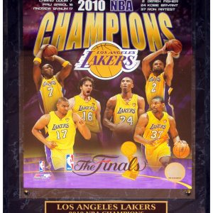 Los Angeles Lakers (2010 NBA Finals Champions Composite) Licensed 8x10 Photo Plaque