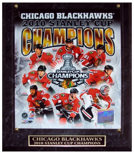 Chicago Blackhawks (2010 Stanley Cup Champions Composite) Licensed 8x10 Photo Plaque