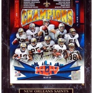 New Orleans Saints (Super Bowl XLIV Champions Composite) Licensed 8x10 Photo Plaque