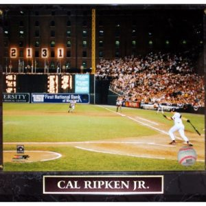 Cal Ripken Jr. Baltimore Orioles (2131 Game) Licensed 8x10 Photo Plaque